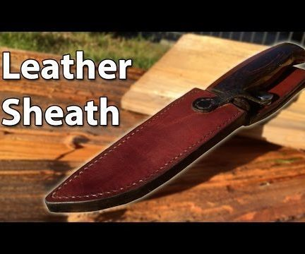 The video shows the entire process in 6 minutes! : ) I made a steak knife a while ago and now it was time to make a sheath for it. I build a lot of stuff in the past, but this was the first time I made anything from leather. If I can make this, so can you! Turns out that the leather can be quite forgiving. Check out the video above to see how I made the sheath. I also made a video about how I made the knife itself. A vote would go a long way!The products you need: Punches The Glue Leather…