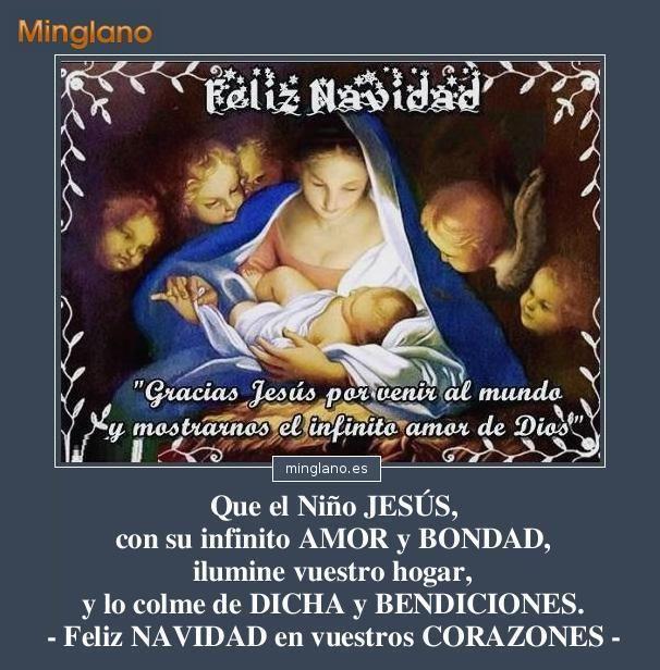 Palabras bonitas con im genes para felicitar la navidad - Frases cristianas para felicitar la navidad ...
