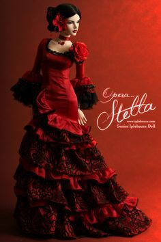 traditional style, fashion doll, red dress, Ball jointed Doll Total Shop…