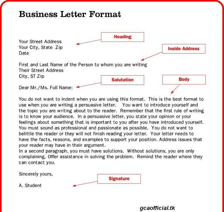 Business Letter Layouts  CityEsporaCo
