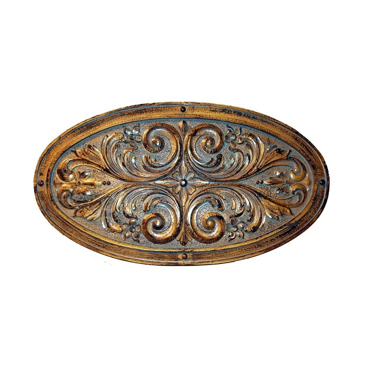 Shop Hickory Manor House 6979 Oval Floral Leaf Plaque Decorative Wall Panel at The Mine. Browse our wall sculptures, all with free shipping and best price guaranteed.