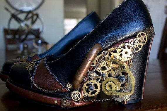 Lights, Costumes, Fashion, Steampunk Shoes, Steampunk Style, Steampunk Heels, Doctors Who, Steam Punk, Gears