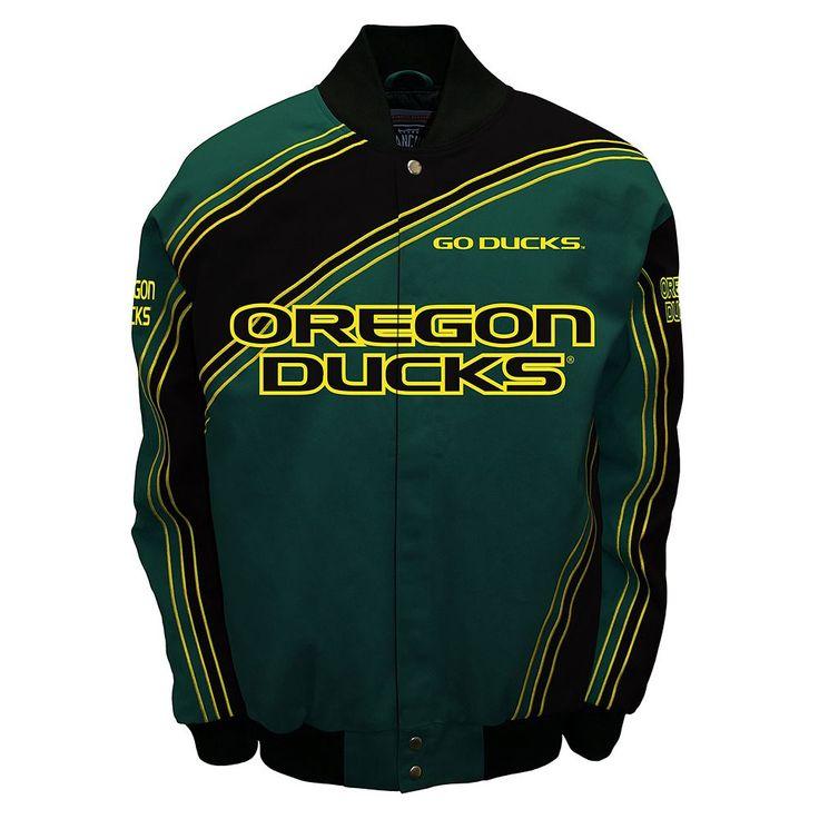 Men's Franchise Club Oregon Ducks Warrior Twill Jacket, Size: Medium, Green