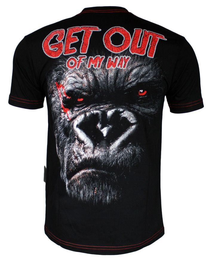 Koszulka 'Gorilla' - tył ---> Streetwear shop: odzież uliczna, kibicowska i patriotyczna / Przepnij Pina!