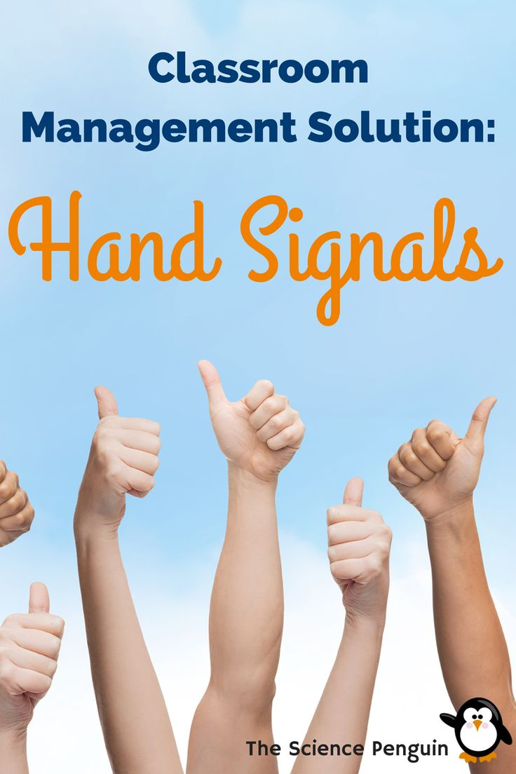 Hand signals are a great classroom management tool The Science Penguin has implemented. Learn how students ask for a pencil or signal they're still working.