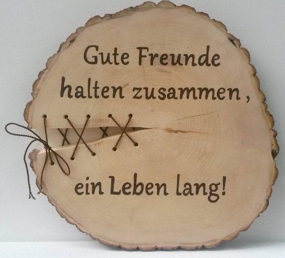Holzbaumscheibe Freunde Bester Freund Guter Freund Freundin Geburtstag Geschenk Freundschaft Friends Friendship