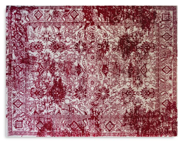 Rugs Carpet and Design - Distressed Botanical Red Rug - Belle Magazine Aug - Sep 2015   |   designlibrary.com.au