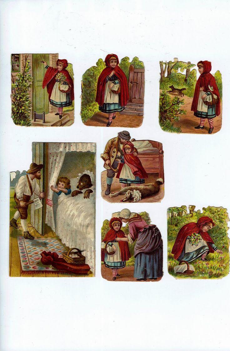 vintage Red Riding Hood Freebies printable