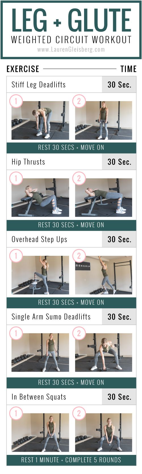 Leg + Glute Workout | Fitmas Challenge Week 1 Day 1 by LaurenGleisberg.com