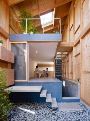 """Designed by architects Suppose Design Office, """"House in Seya"""" is the home of a Japanese florist. Experimenting with the way nature and architecture interact, the house features spaces which are neither rooms nor gardens and is intended to stand as an incomplete design which will literally grow and change over time. by leigh"""