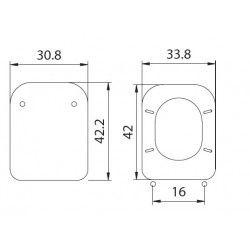 διάγραμμα Ideal Standard Conca - Καπάκι κάλυμμα λεκάνης mdf wood λευκό