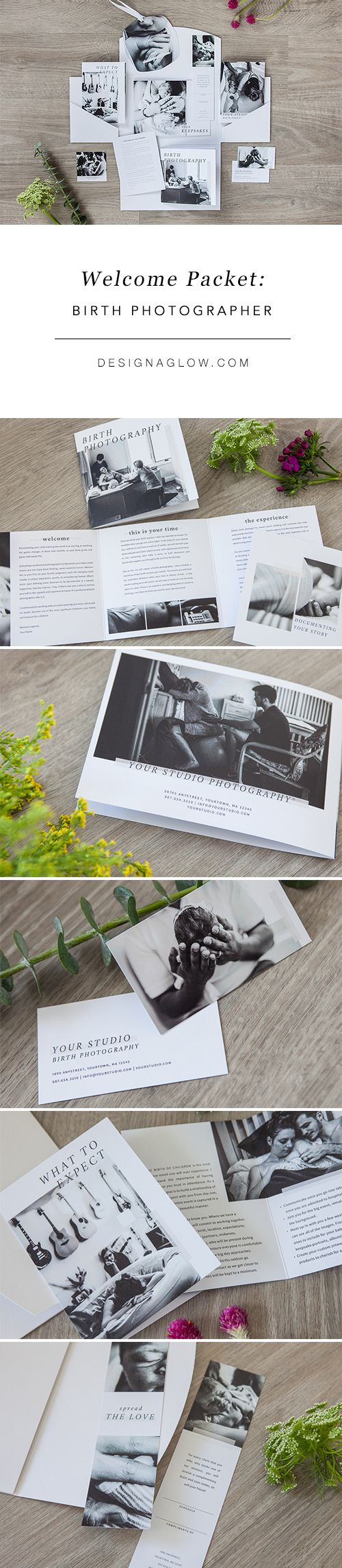 Photography Welcome Packet for Birth Photographers by Design Aglow
