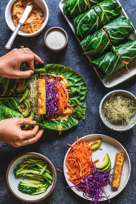 Weekday meals are a constant struggle-- you want to make something that is relatively healthy but quick and easy. Well, collard green wraps to the rescue!
