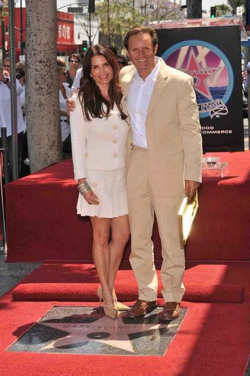 Historic Photograph of Mark Burnett And Roma Downey At His Hollywood Walk Of Fame Ceremony