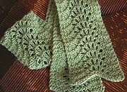 """Perfect for beginners, this stitch called """"Feather and Fan"""" or """"Old Shale""""    Cast on 22 stitches and knit 2 rows.    Now you're ready to begin the lace pattern, which is as follows.    Row 1: (RS): K all sts.  Row 2: K2, p18, k2. (Those 2 border stitches on either end will always be knit in garter stitch—their role is to keep your fabric from curling.)  Row 3: K2, (K2Tog) 3 times, (YO,K1) 6 times, (K2Tog) 3 times, k2.  Row 4: K all sts.    Repeat rows 1 through 4 until you've reached your…"""