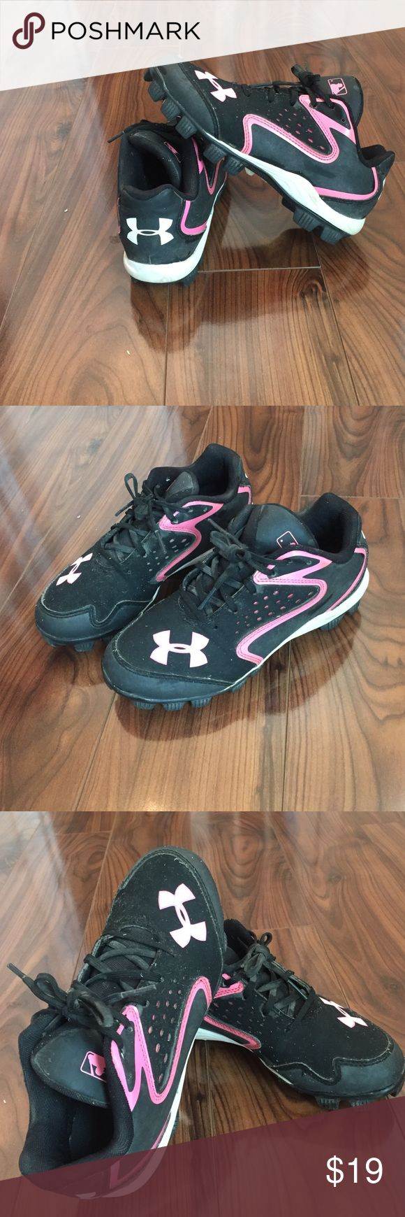 ⚾️Under Armour Cleat Sale⚾️ UA Softball Cleats- worn only one softball season! Get them fast!  Play on! Under Armour Shoes