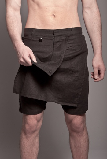"""""""Skingraft Skirt Short"""" - c'mon, we know a skort when we see one. Are girls trying to pawn them off on us now?"""