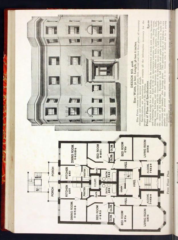 Radford S Portfolio Of Plans A Standard Colle Architectural Floor Plans House Design City Design