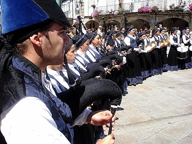 Banda de Gaitas. Viana do Bolo. Ourense. Galicia. España.