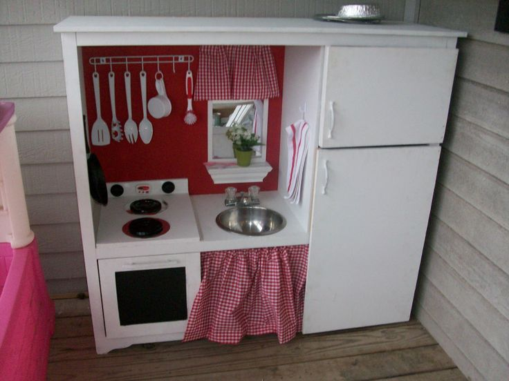 Play Kitchen From Entertainment Center | Posted by The ...