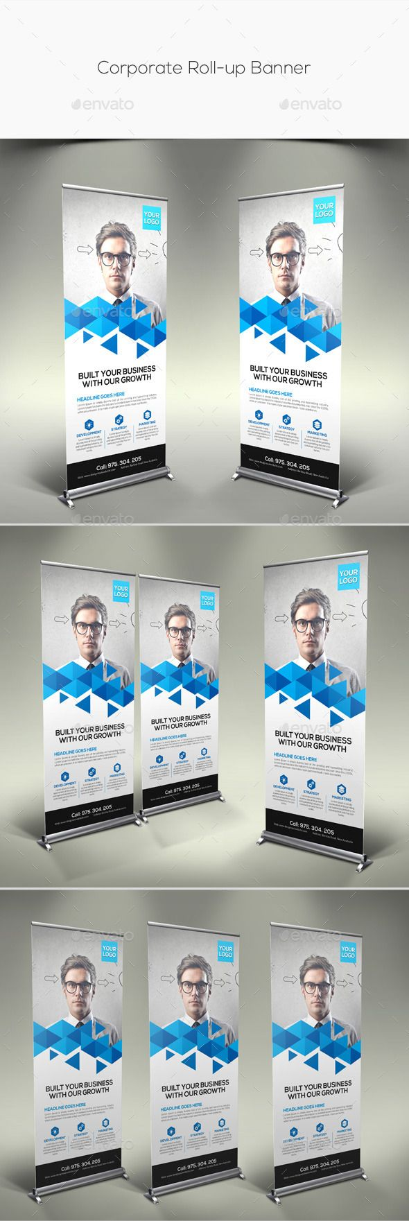 Corporate Rollup Banner — Photoshop PSD #editable #corporate banner • Availa...
