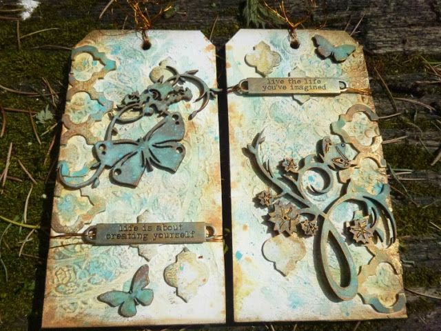 Calico Craft Parts: Gilded Verdigris Tags by Guest Designer Alison