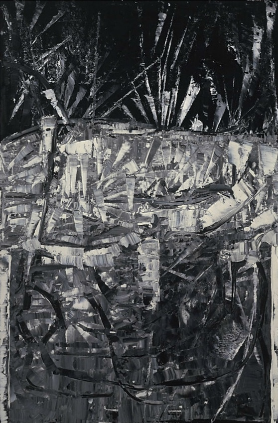 Riopelle, Jean-Paul--Untitled, oil on canvas, 146,6x98,8cm1980