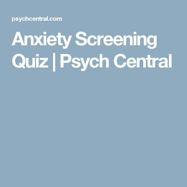 Anxiety Screening Quiz | Psych Central