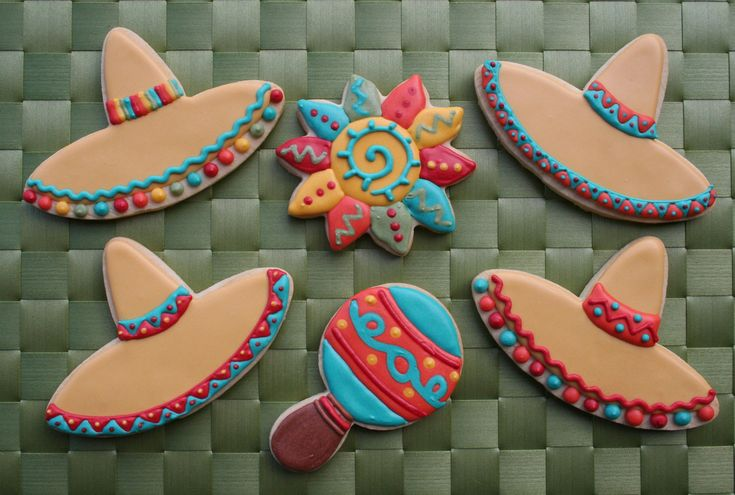 Sombrero Cookies | More cookies for the Fiesta platter. I ha… | Flickr