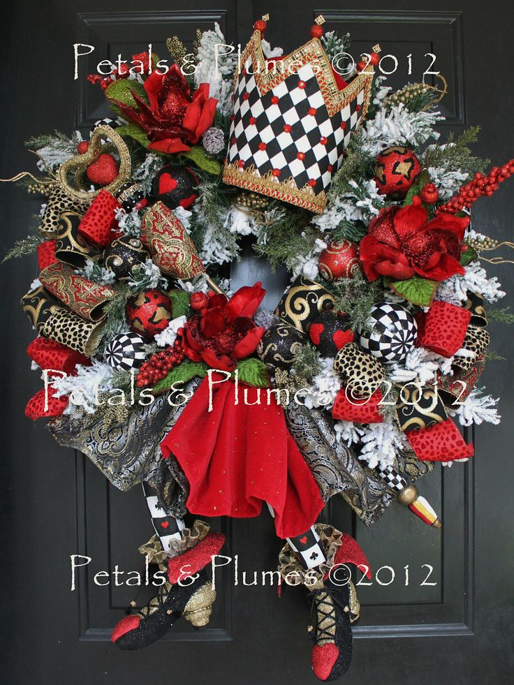24 Best Images About Alice In Wonderland Wreath Ideas On