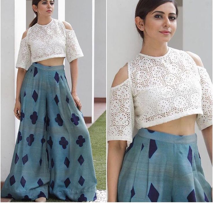 Pallazo love# cropped top love # Indian fashion # love for white #