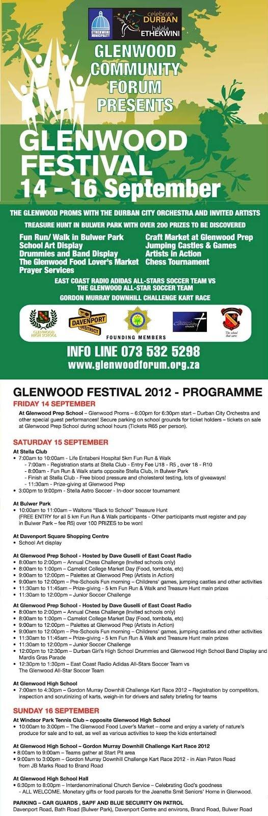 Glenwood Festival Infographic     Glenwood Community Church is a founding member of the Glenwood Community Forum, key organiser of the Glenwood Festival.