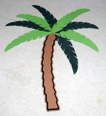 Makeing a palm tree with the cameo