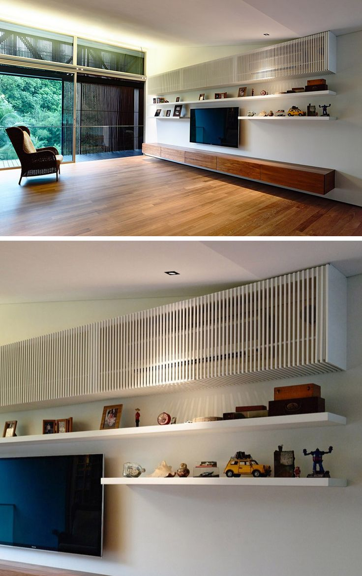 Interior Design Ideas - Hide The Air-Conditioning Unit Inside A Cabinet