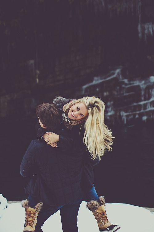 sweet photo. #snow #couple
