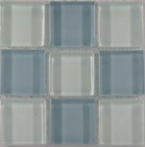 Product ID:OPUS9 Miki 1X1 Glass Blend Flor/White Mosaic #Profiletile