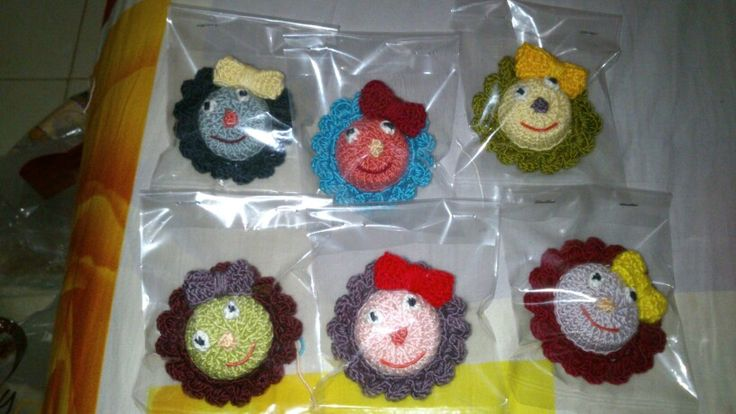 My mini brooches.....always smile...