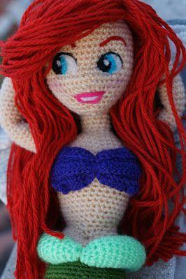 Mi version amigurumi de la sirenita  #Ariel #lasirenita #amigurumi #disney #ariel #tartatelas