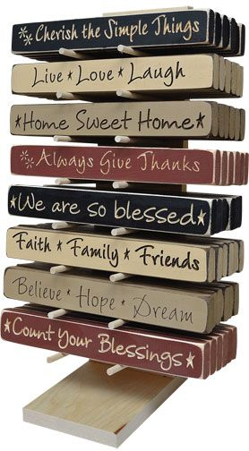 Signs/Plaques/Pictures > Wood Sayings Blocks