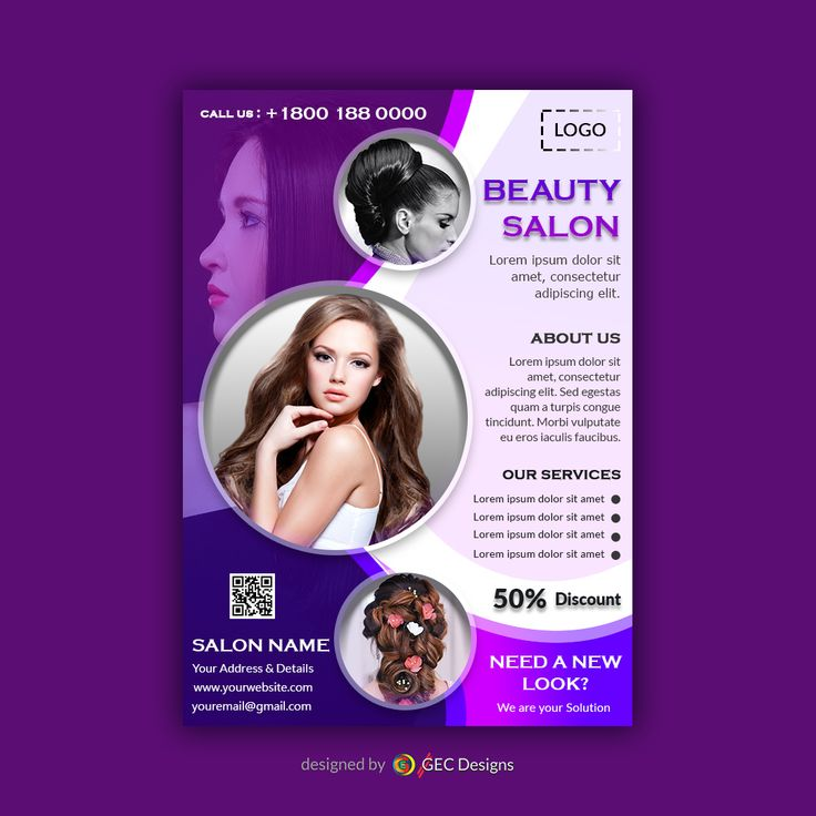 Free Beauty Salon Flyer Design