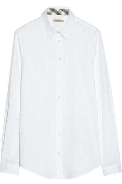 Stretch-cotton shirt #shirt #covetme #Burberry Brit