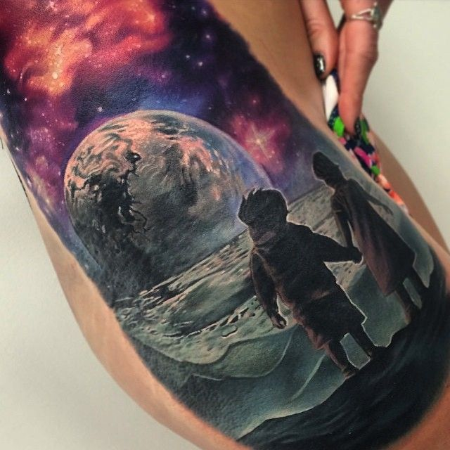 26 best space couple tattoos images on pinterest couple for Little kid tattoos