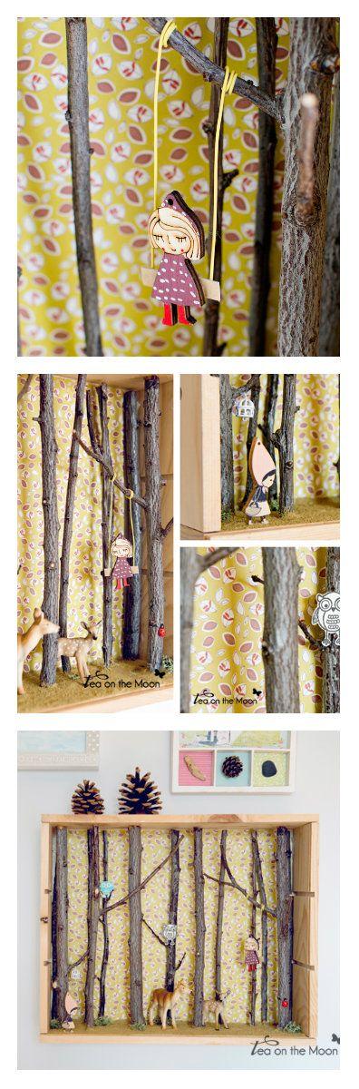 Tea On The Moon - Diorama de un bosque encantado http://www.teaonthemoon.com/2014/03/diorama-de-un-bosque-encantado-mister.html