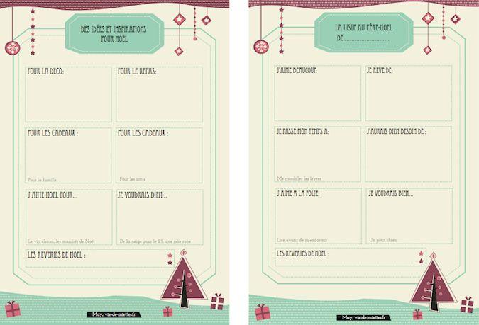 Un organisateur et une jolie liste de Noël à imprimer, - Vie de Miettes