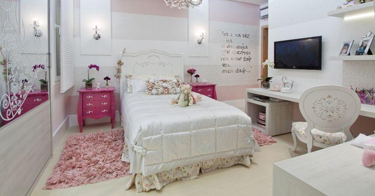 Até os quartos das meninas têm mais opções na hora da decoração.