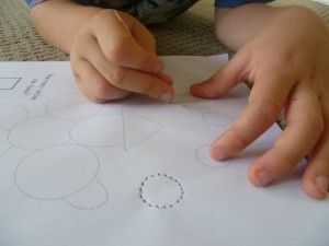 C (soft) week activites - pricking circle shapes with a toothpick