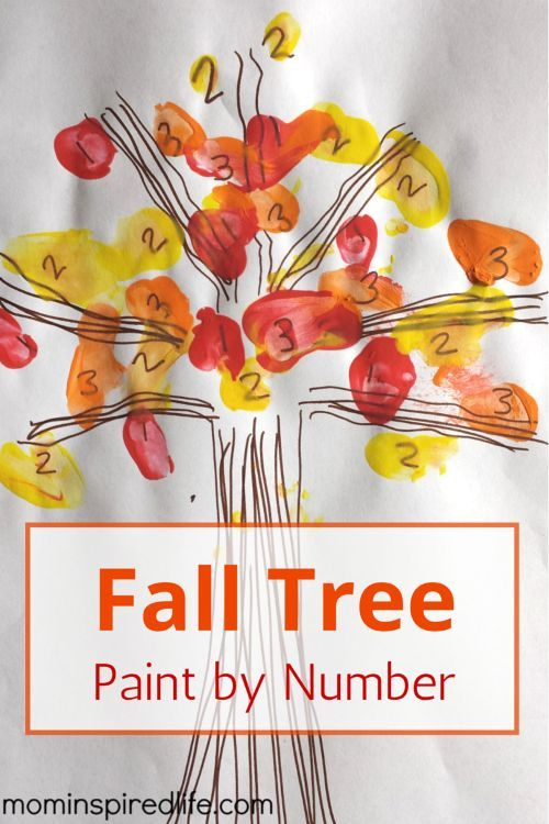 Fall Tree Paint by Number is perfect for teaching number recognition! This fall craft for preschoolers would be a great activity to do for fall theme preschool activities. #preschool