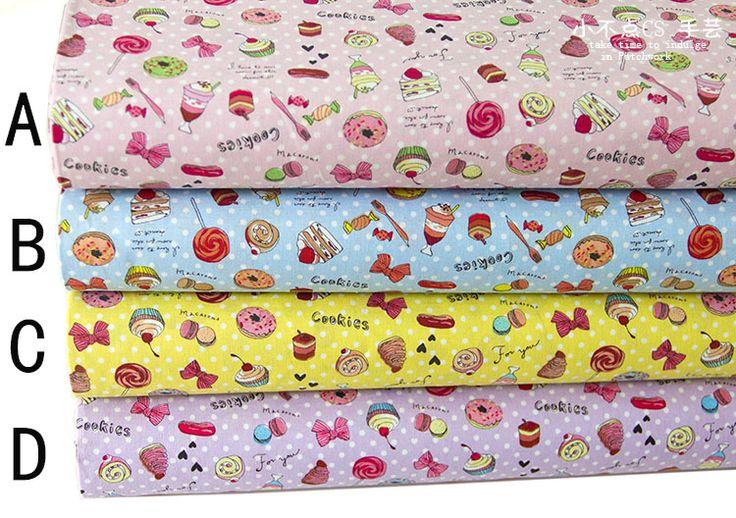 Японский импорт кокка детская одежда ткань Лолита Лолита цветочный принт хлопчатобумажная ткань конфеты торт 1/4 м-Таобао глобальной вокзала