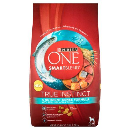 Purina ONE SmartBlend True Instinct with Real Salmon & Tuna Adult Premium Dog Food 3.8 lb. Bag