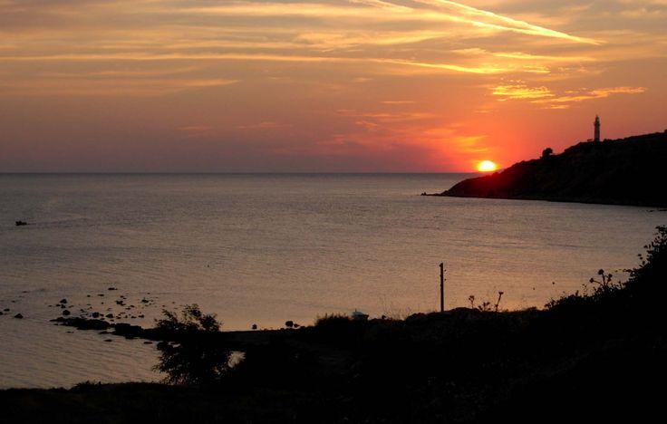 Seddülbahir Kalesinden Ertuğrul Koyu'nda gün batımı.. Seddülbahir fotoğrafları / Sunset on V Beach from Seddülbahir Fortress.. Seddülbahir photos